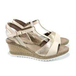 Дамски сандали Jana 8-28304-28H бежов | Немски сандали на платформа