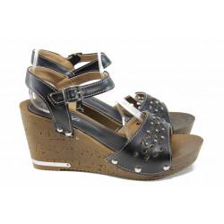 Дамски сандали Jump 6850 черен | Дамски сандали на платформа