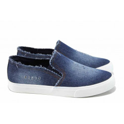 Дамски спортни обувки АБ 7258 син | Равни дамски обувки