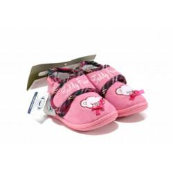 Анатомични домашни пантофи с лепенки ДФ PESCARA G200 розов 19/30 | Домашни чехли и пантофи