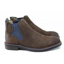 Мъжки боти от естествен набук S.Oliver 5-15301-29 кафяв | Немски мъжки обувки