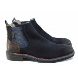 Мъжки боти от естествен набук S.Oliver 5-15301-29 син | Немски мъжки обувки