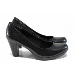 Дамски обувки на ток Marco Tozzi 2-22422-29 зелен стомана | Немски обувки на ток