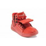 Детски високи кецове Bulldozer 72114 червен 31/35 | Детски маратонки