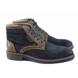 Мъжки боти от естествен велур S.Oliver 5-15104-29 син | Немски мъжки обувки