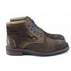 Мъжки боти от естествен велур S.Oliver 5-15104-29 кафяв | Немски мъжки обувки