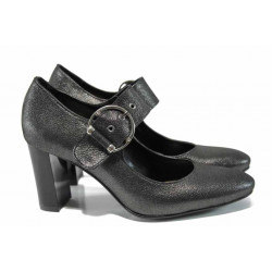 Дамски обувки от естествена кожа МИ 165-103 сив   Дамски обувки на висок ток