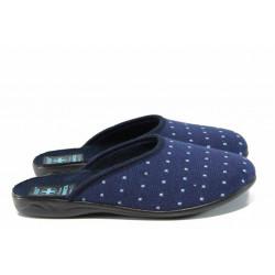 Анатомични дамски чехли с Bio ходило МА 22247 син | Домашни чехли