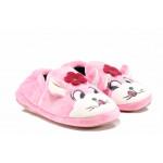 Анатомични детски домашни пантофи РС 1601245 розов котка 30/35 | Домашни чехли и пантофи
