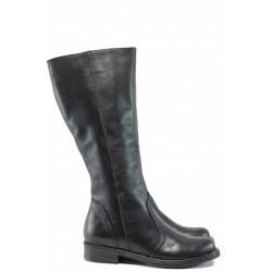 Български дамски ботуши от естествена кожа НЛ 309 Кира черен | Дамски ботуши с топъл хастар