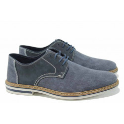 Мъжки обувки с връзки Rieker B1422-15 син ANTISTRESS | Немски мъжки обувки