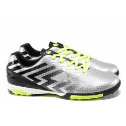 "Юношески ""стоножки"" АБ 170603 черен-сребро | Футболни обувки"