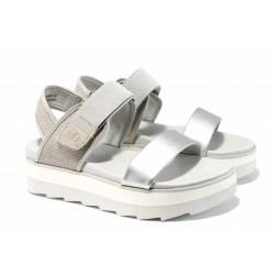Дамски сандали на комфортно ходило S.Oliver 5-28202-20 сребро | Немски сандали на платформа