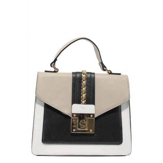 Дамска чанта с модерна визия ФР 971 бял | Дамска чанта