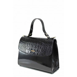 Елегантана дамска чанта ФР 13 черен лак | Дамска чанта