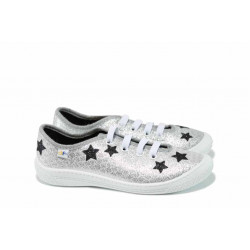 Анатомични детски обувки МА MALWA сребро 30/35 | Домашни пантофки
