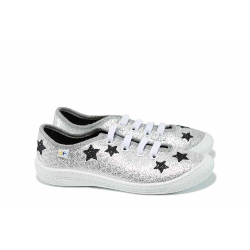 0bdc2f71cfe Анатомични детски обувки МА MALWA сребро 30/35 | Домашни пантофки