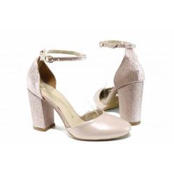 Елегантни дамски обувки с модерна визия МИ 596-5 розов | Дамски сандали на ток