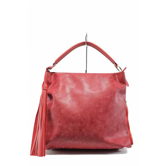 Българска дамска чанта СБ 1205 червен | Дамска чанта