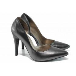 Елегантни дамски обувки МИ 560 т.сребро | Дамски обувки на висок ток
