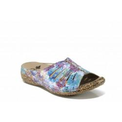 Дамски чехли на комфортно ходило Rieker V7286-90 син ANTISTRESS | Немски дамски обувки