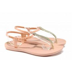 Равни дамски сандали Ipanema 82283 розов-злато | Бразилски чехли и сандали