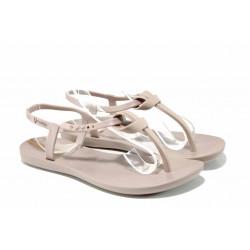 Равни дамски сандали Ipanema 82418 бежов | Бразилски чехли и сандали