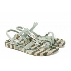 Анатомични дамски сандали Ipanema 82291 бежов-зелен | Бразилски чехли и сандали