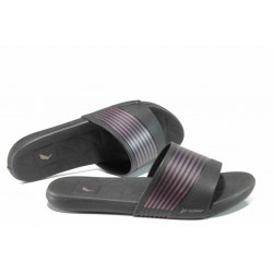 Анатомични дамски чехли с мемори пяна Rider 82207 черен-розов | Бразилски чехли и сандали