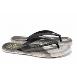 Анатомични мъжки чехли между пръстите Rider 10719 сив-черен | Бразилски чехли