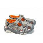 Анатомични детски сандали АБ 93596 сив 25/30 | Детски чехли и сандали