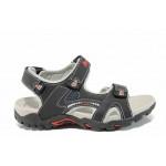 Анатомични детски сандали АБ 1622 черен 32/36 | Детски чехли и сандали