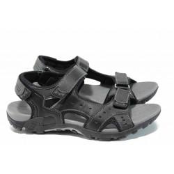 Юношески сандали с анатомично ходило АБ 1708 черен | Юношески чехли и сандали