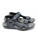 Юношески сандали с анатомично ходило АБ 1708 т.син | Юношески чехли и сандали