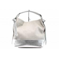 Българска дамска чанта СБ 1203 сив-сребро | Дамска чанта
