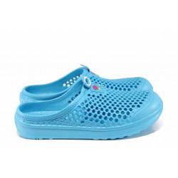 Дамски чехли-сандали /тип крокс/ АБ 6688 син | Дамски гумени чехли