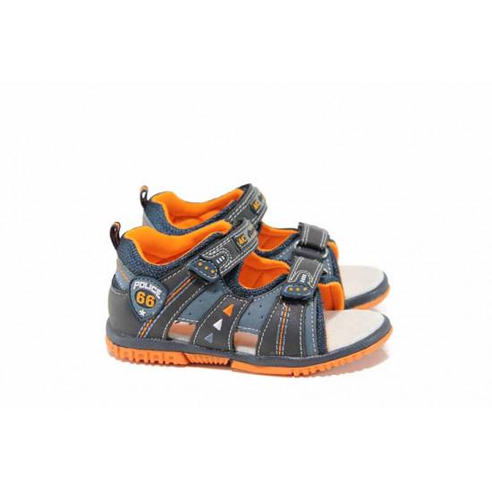 Анатомични бебешки сандали АБ 87296 син 21/26 | Детски чехли и сандали