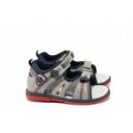 Анатомични бебешки сандали АБ 87296 сив 21/26 | Детски чехли и сандали