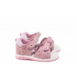 Анатомични бебешки сандали АБ 87285 розов 20/25 | Детски чехли и сандали