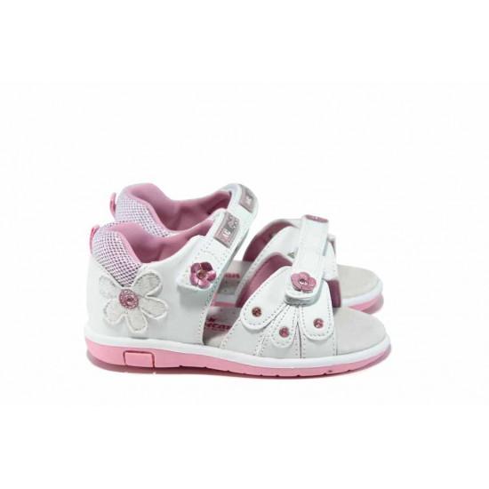 Анатомични бебешки сандали АБ 87285 бял 20/25 | Детски чехли и сандали