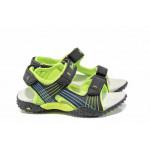 Анатомични детски сандали АБ 5261 черен-зелен 27/31 | Детски сандали