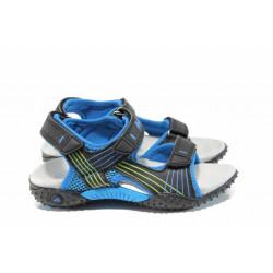 Анатомични детски сандали АБ 5261 черен-син 27/31 | Детски сандали