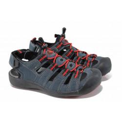 Детски сандали на комфортно ходило АБ 21010 син 32/36 | Детски сандали