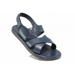 Мъжки сандали от естествена кожа МИ 831 син | Мъжки чехли и сандали