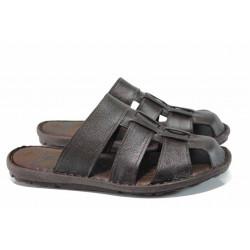 Анатомични мъжки чехли МИ 080 кафяв   Мъжки чехли и сандали