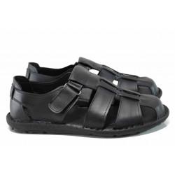 Анатомични мъжки сандали МИ 030 черен | Мъжки чехли и сандали