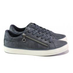 Дамски спортни обувки с мемори пяна S.Oliver 5-23615-21 син | Немски равни обувки