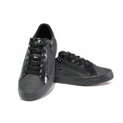 Дамски спортни обувки с мемори пяна S.Oliver 5-23615-21 черен   Немски равни обувки