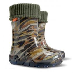 Детски ботуши с топъл свалящ се чорап Demar 0039 камуфлаж 28/35 | Гумени ботуши