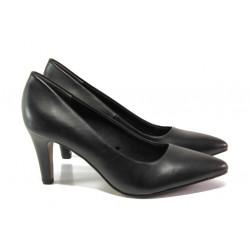 Елегантни дамски обувки от естествена кожа S.Oliver 5-22432-21 черен | Немски обувки на ток